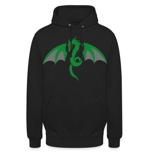 Red eyed green dragon - Hoodie unisex