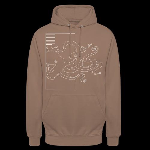Tintenfisch-Logo Weiss - Unisex Hoodie