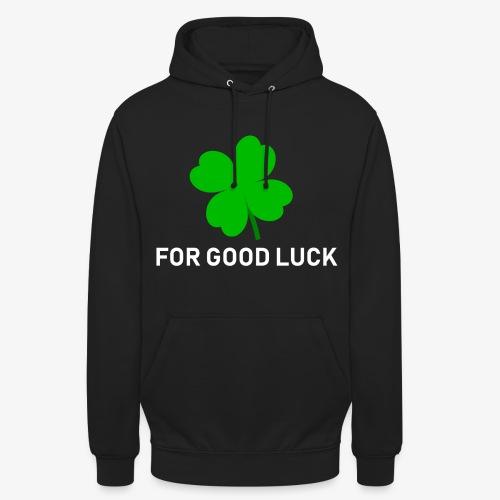 Voor goed geluk (zwart) - Hoodie unisex