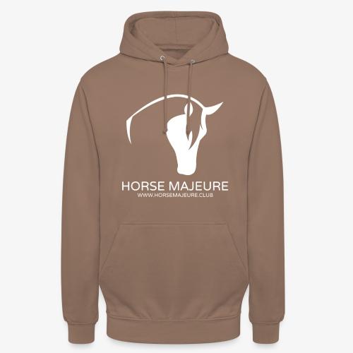 "Horse Majeure Logo / Valkoinen - Huppari ""unisex"""