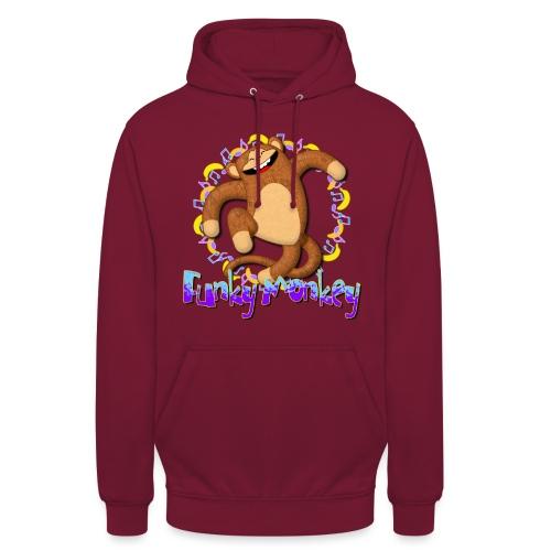 Funky Monkey - Felpa con cappuccio unisex