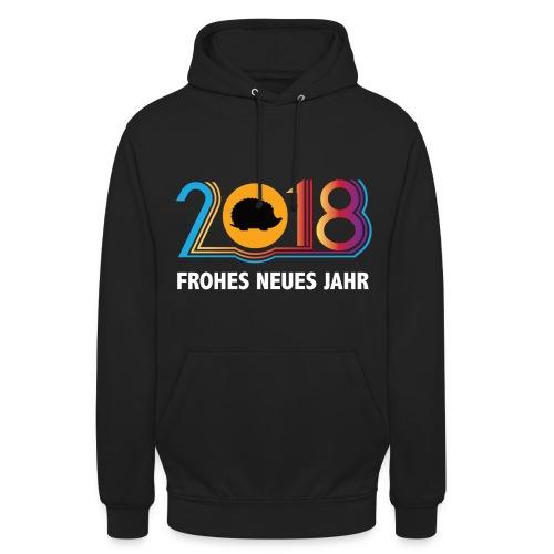 Frohes neues Jahr 2018 Igeldesign - Unisex Hoodie