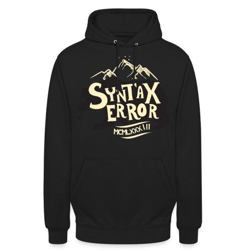 Syntax Error Bear - Luvtröja unisex