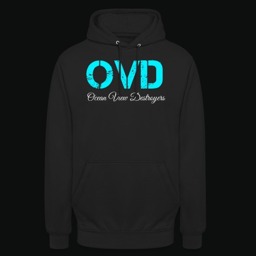 ovd blue text - Unisex Hoodie