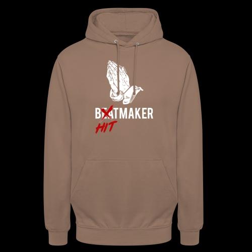 HitMaker Blanc - Sweat-shirt à capuche unisexe