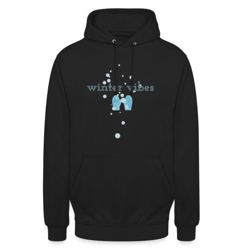 winter vibes - Sweat-shirt à capuche unisexe