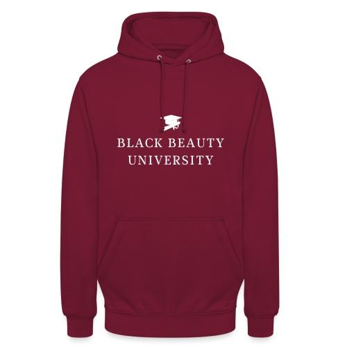 BLACK BEAUTY UNIVERSITY LOGO BLANC - Sweat-shirt à capuche unisexe