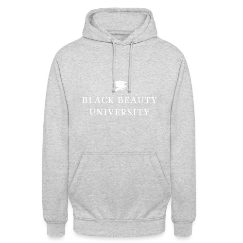 BLACK BEAUTY UNIVERSITY LOGO BLANC - Sweat-shirt à capuche unisexe