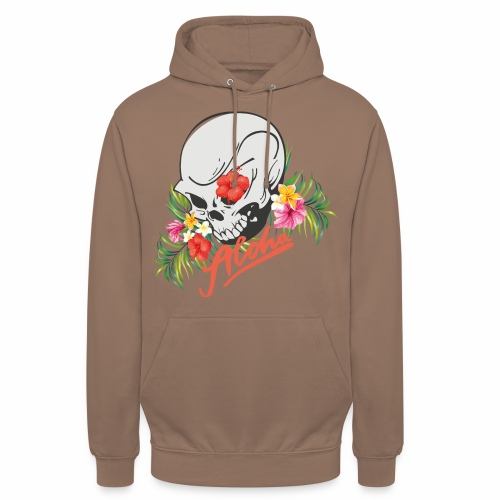 Hawaiian Skull Aloha Surfer Design - Unisex Hoodie