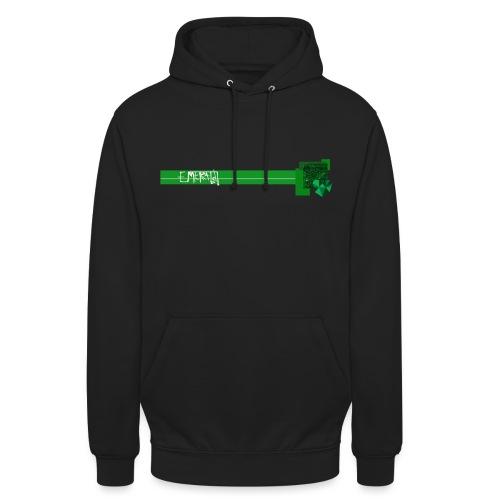 motif emerald vert long trait gif - Sweat-shirt à capuche unisexe
