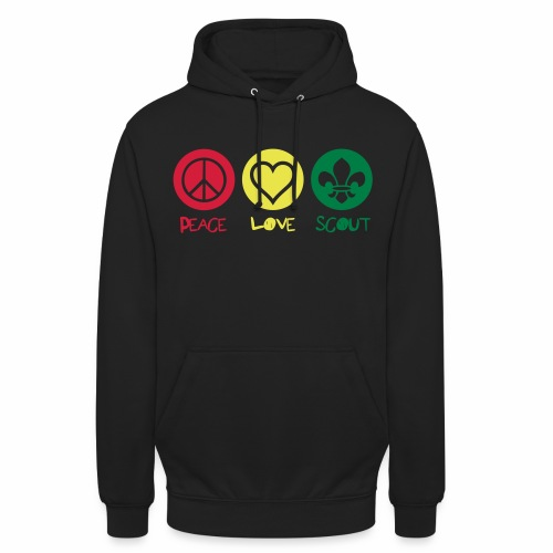 Peace Love Scout - Sweat-shirt à capuche unisexe