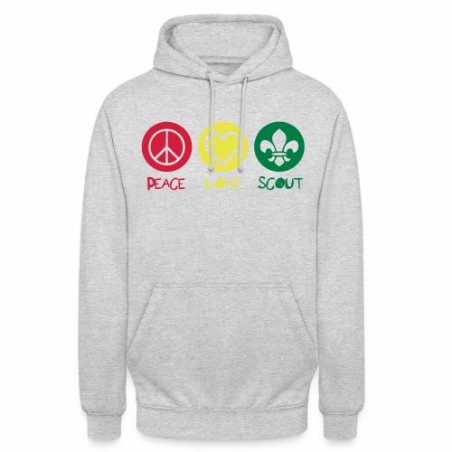 Peace Love Scout - Sweat-shirt à capuche unisexe