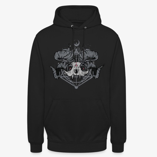 FRONT PRINT:: Racoon Demonlord_by KAOZ ATTITUDE - Unisex Hoodie