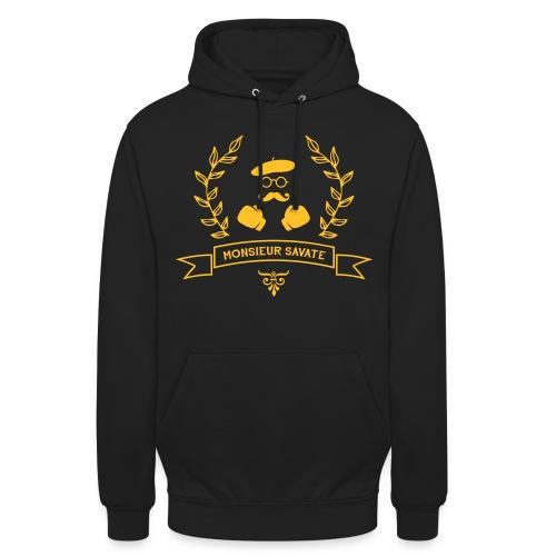 Monsieur Savate logo1 - Sweat-shirt à capuche unisexe