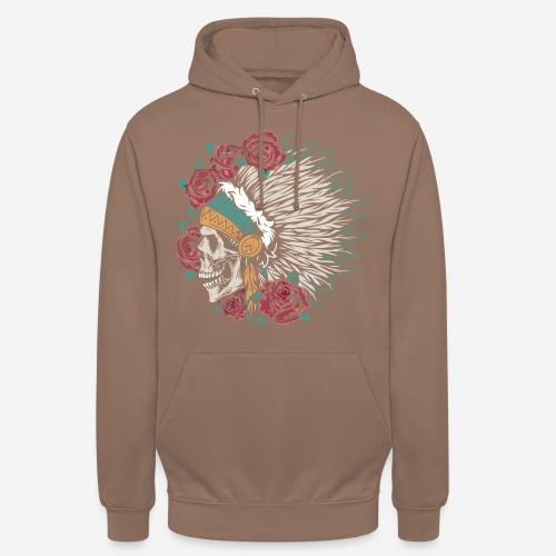indian skull roses - Unisex Hoodie