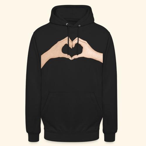 Mains Coeur Amour - Love hands - Sweat-shirt à capuche unisexe