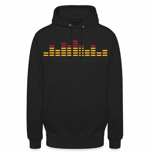 EQ - Spektrum Analyser - Electronic Music - Unisex Hoodie