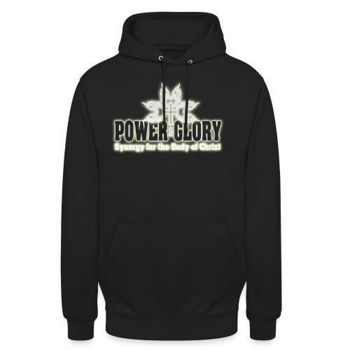 Power and Glory Logo glow - Unisex Hoodie