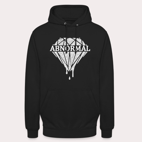 ABNORMAL WHITE LOGO OFFICIAL png - Unisex Hoodie