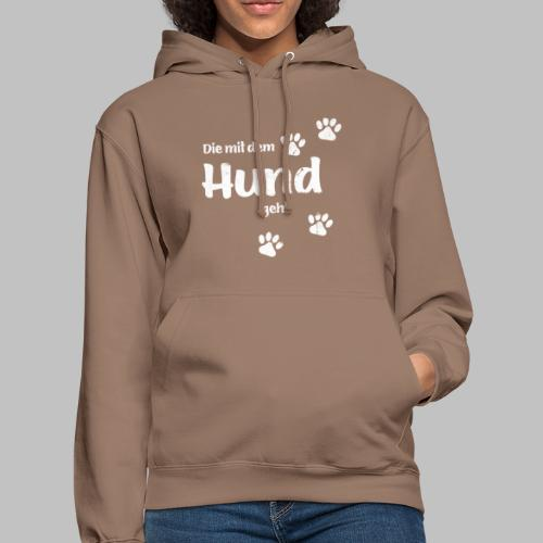 Die mit dem Hund geht - Used Look - Hundepfoten - Unisex Hoodie