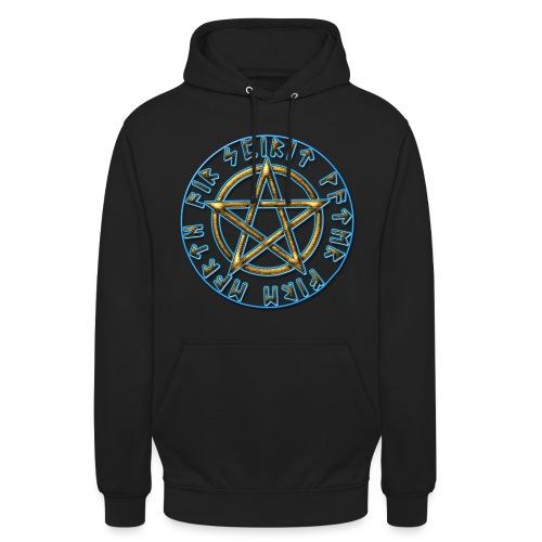 Runen Pentagramm Elemente Schutz Amulett Magie - Unisex Hoodie