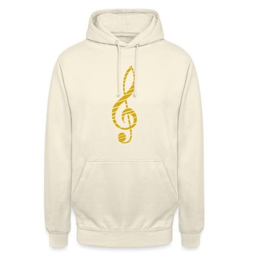Goldenes Musik Schlüssel Symbol Chopped Up - Unisex Hoodie