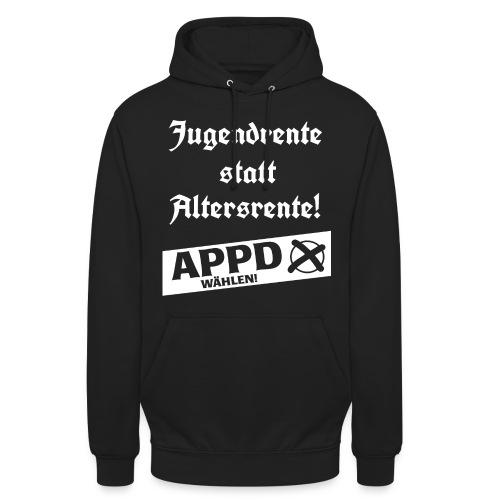 Jugendrentestatt Altersrente - APPD wählen! - Unisex Hoodie
