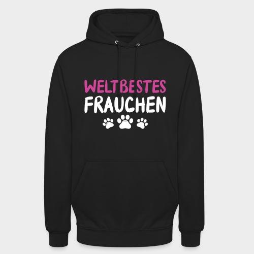 Weltbestes Frauchen Hundeliebe Hund - Unisex Hoodie