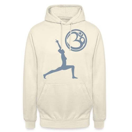 Der Held Yoga Asana Warrior mit OM Symbol Cool - Unisex Hoodie