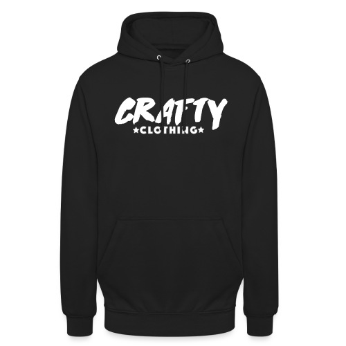 WHITE CRAFTY LOGO png - Unisex Hoodie