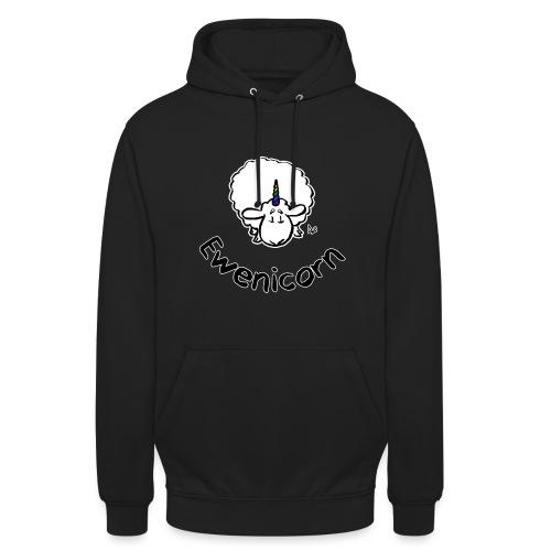 Ewenicorn (édition noire texte noir) - Sweat-shirt à capuche unisexe