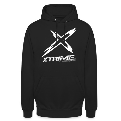 Spreadshirt XtriME Logo Whi png - Unisex Hoodie