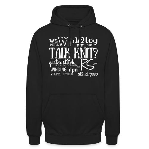 Talk Knit ?, white - Unisex Hoodie