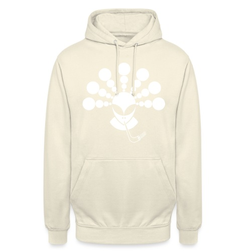 The Smoking Alien White - Unisex Hoodie