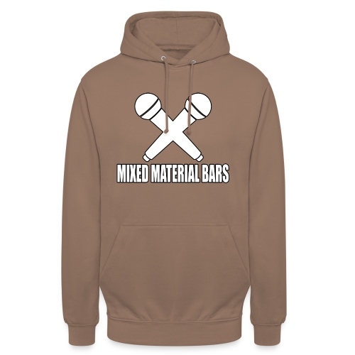 MIXED MATERIAL BARS - Unisex Hoodie
