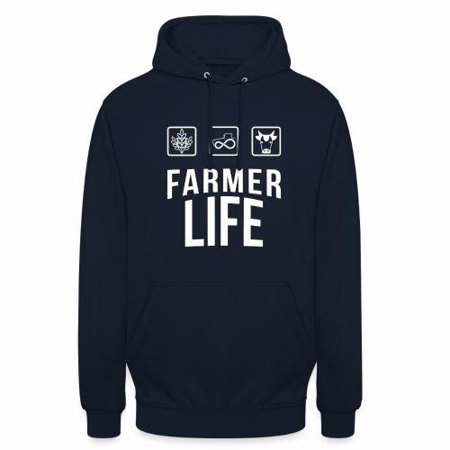 Farmer life - Felpa con cappuccio unisex