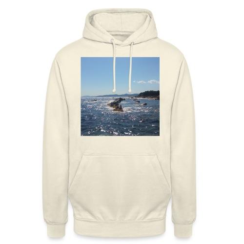 Mer avec roches - Sweat-shirt à capuche unisexe