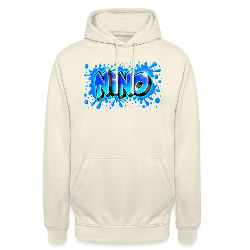 Graffiti NINO splash blue - Sweat-shirt à capuche unisexe