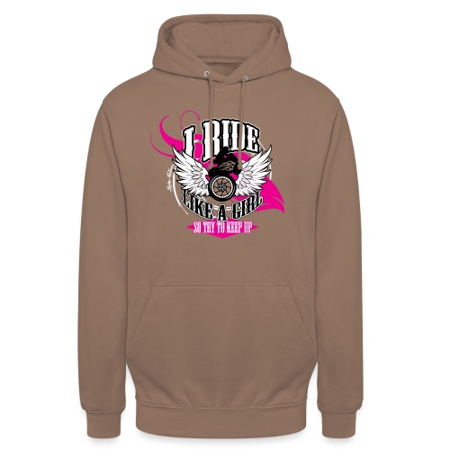 Kabes Ride Like a Girl T-Shirt - Unisex Hoodie
