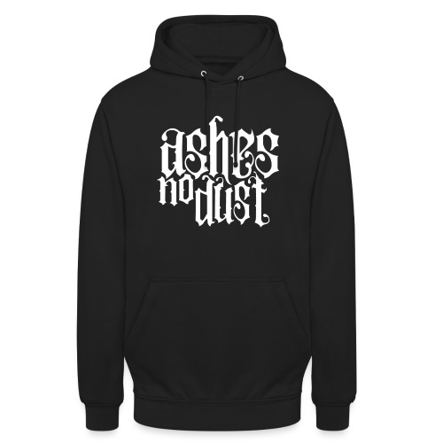White logo Ashes No Dust - Sweat-shirt à capuche unisexe