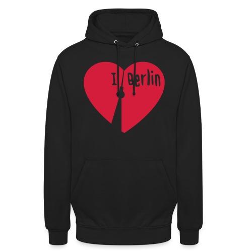 I love Berlin (1-farbig) - Unisex Hoodie