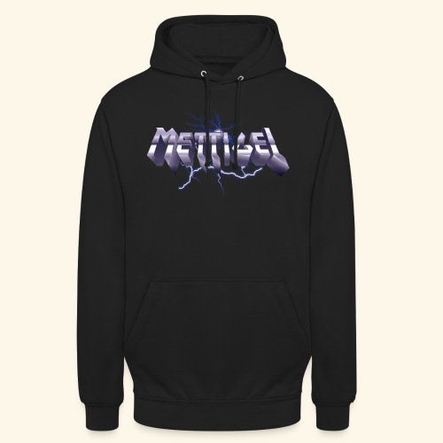 Mettigel T Shirt Design Heavy Metal Schriftzug - Unisex Hoodie