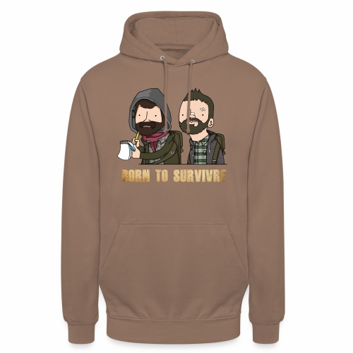 Born to Survivre - Sweat-shirt à capuche unisexe