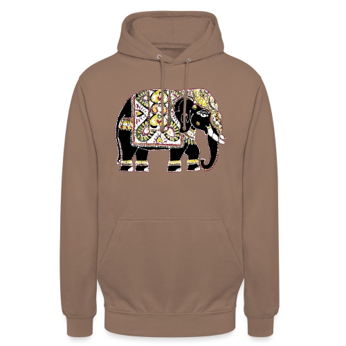 Indian elephant for luck - Unisex Hoodie