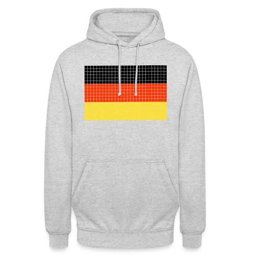 german flag.png - Felpa con cappuccio unisex