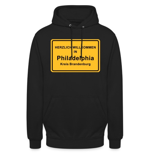 Ortsschild Philadelphia - Unisex Hoodie