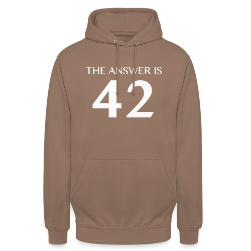 The Answer is 42 White - Unisex Hoodie