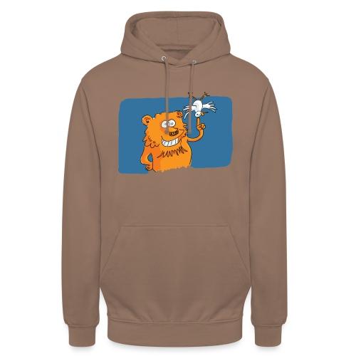 Le lion et l'oiseau - Sweat-shirt à capuche unisexe