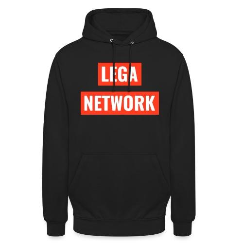 Logo Lega Network - Felpa con cappuccio unisex