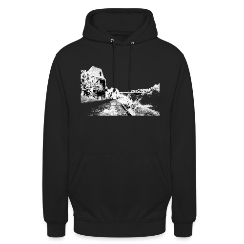 J'aime Mouleydier - Pont F - Sweat-shirt à capuche unisexe
